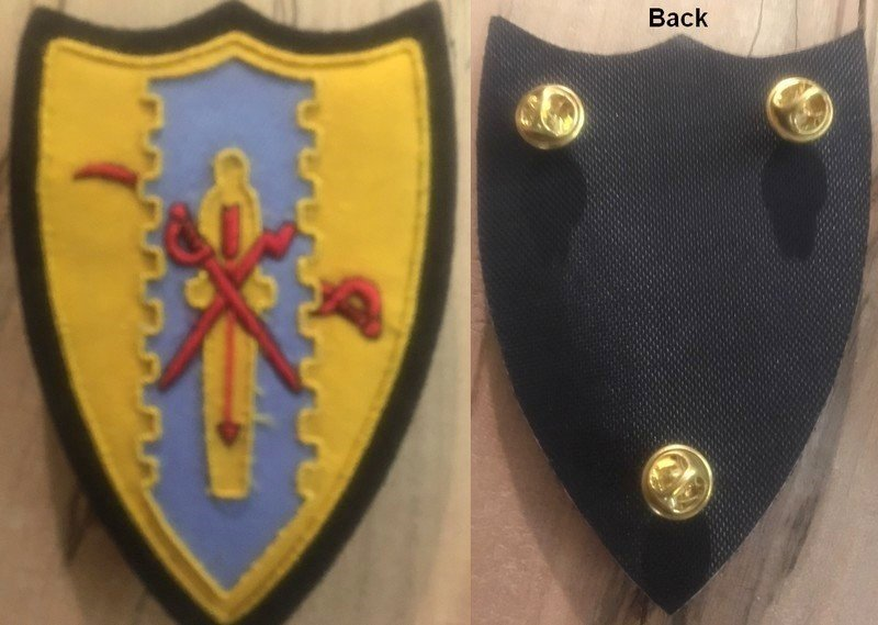 Pin-on Cloth Patch